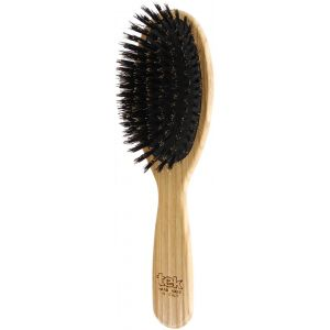Oval bristle brush