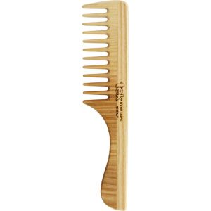 Comb with handle and wide teeth